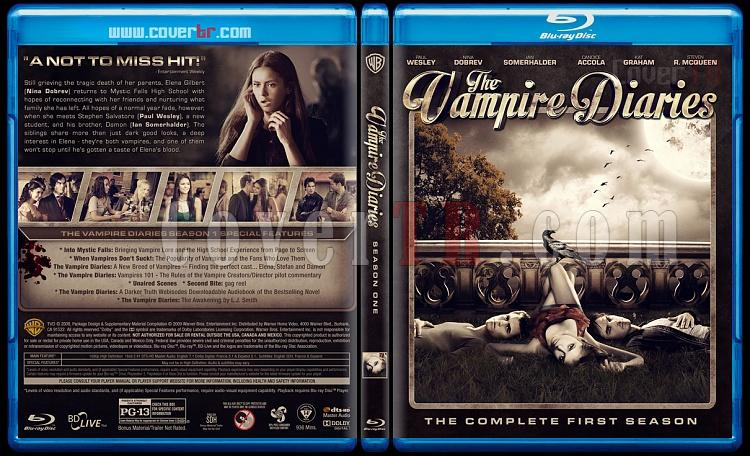 The Vampire Diaries (Seasons 1-5) - Custom Bluray Cover - English [2009-?]-1jpg