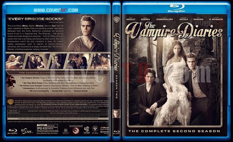 The Vampire Diaries (Seasons 1-5) - Custom Bluray Cover - English [2009-?]-2jpg