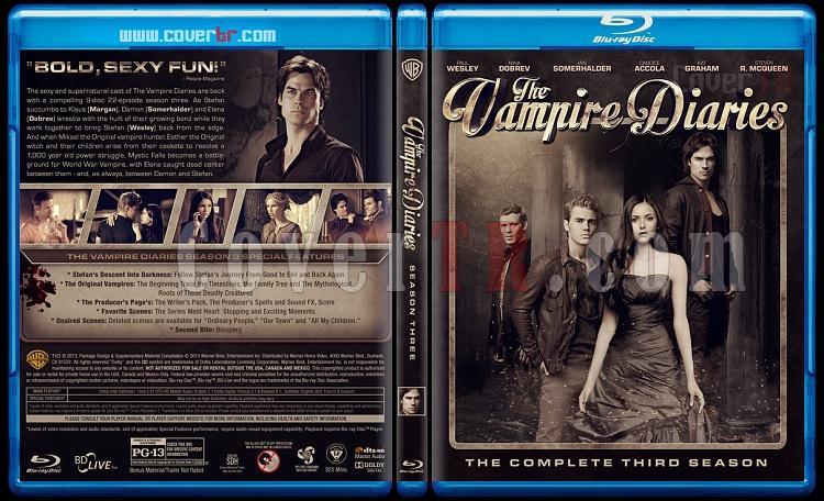 The Vampire Diaries (Seasons 1-5) - Custom Bluray Cover - English [2009-?]-3jpg