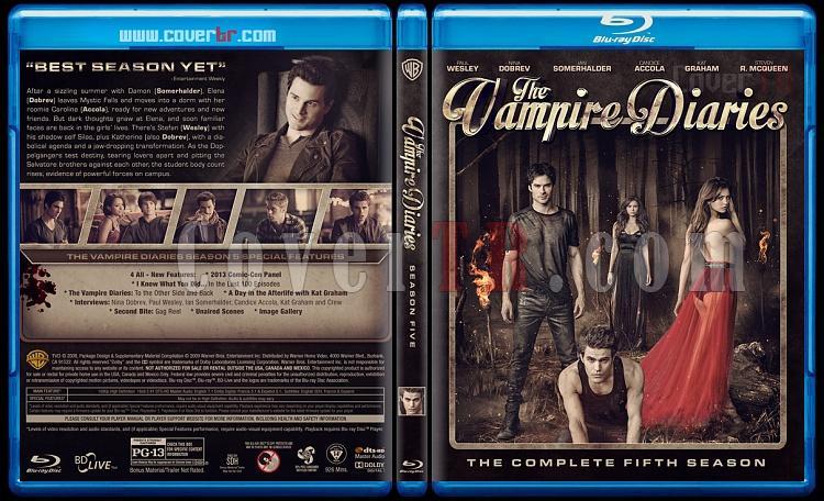 The Vampire Diaries (Seasons 1-5) - Custom Bluray Cover - English [2009-?]-5jpg