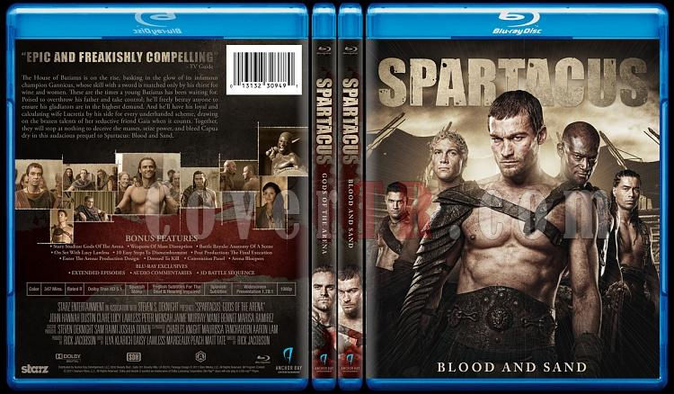 Spartacus Tv Series - Custom Bluray Cover Set - English [2010-2013]-hepsijpg