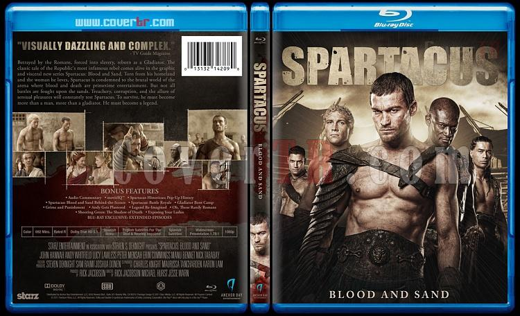 Spartacus Tv Series - Custom Bluray Cover Set - English [2010-2013]-1jpg