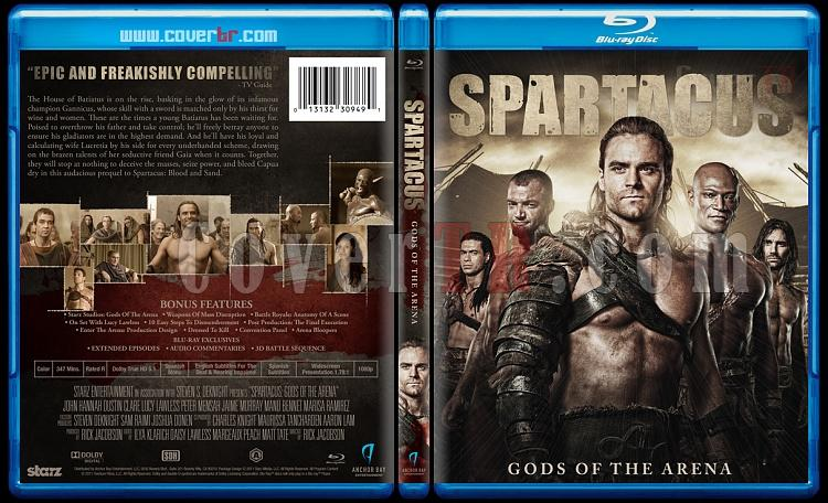 Spartacus Tv Series - Custom Bluray Cover Set - English [2010-2013]-2jpg