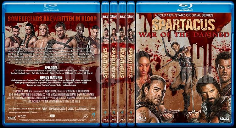 Spartacus (All Seasons) - Custom Bluray Cover Set - English [2010-2013]-0jpg