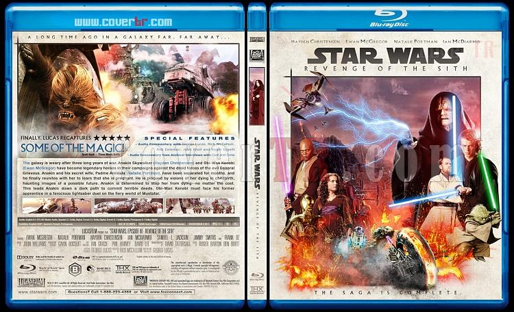 Star Wars (Episode 1-6) - Custom Bluray Cover Set - English [1977-2005]-3_star_wars_episode_iii-revenge_of_the_sith_bd-by_matush_ctrjpg