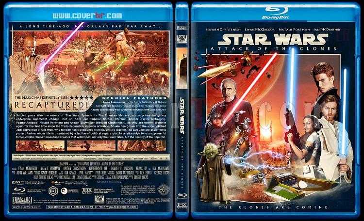 Star Wars (Episode 1-6) - Custom Bluray Cover Set - English [1977-2005]-2_star_wars_episode_ii-attack_of_the_clones_bd-by_matush_v2_ctrjpg
