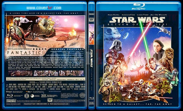 Star Wars (Episode 1-6) - Custom Bluray Cover Set - English [1977-2005]-6_star_wars_episode_vi_return_of_the_jedi_blue_ctrjpg