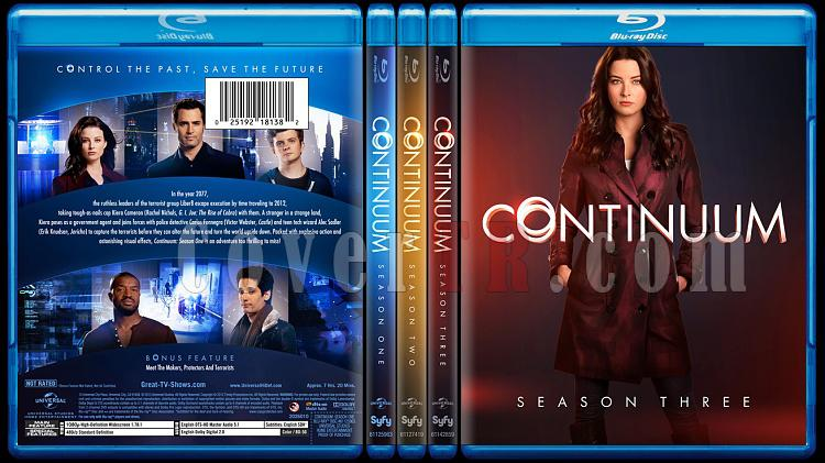 Continuum (Season 1-3) - Custom Bluray Cover Set - English [2012-?]-continuumseason1-3jpg