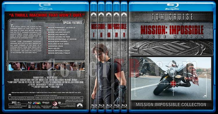 Mission: Impossible Collection - Custom Bluray Cover Set - English [1996-2015]-0jpg