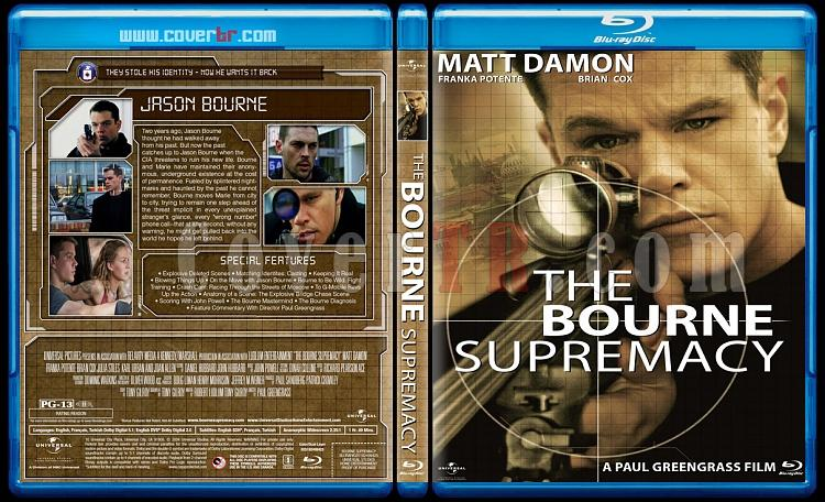 The Bourne Collection - Custom Bluray Cover Set - English [2002-2012]-2jpg