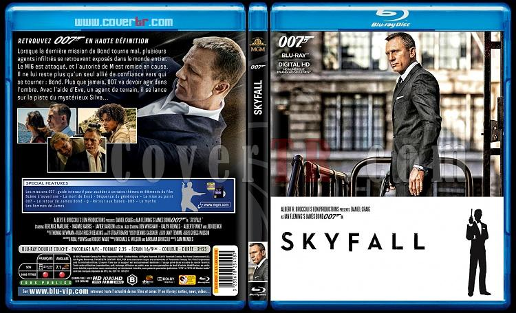 007 James Bond Collection - Custom Bluray Cover Set - French [1962-2015]-23-007-skyfalljpg
