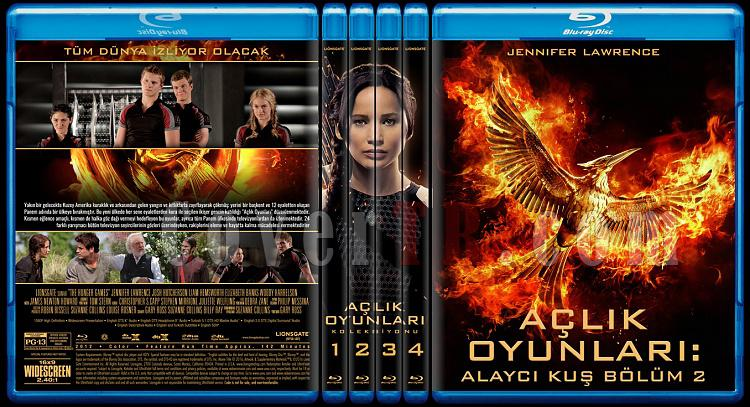 The Hunger Games Series (Açlık Oyunları Serisi) - Custom Bluray Cover Set [2012-2015]-alljpg
