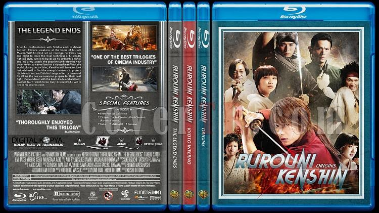 Rurouni Kenshin Trilogy - Custom Bluray Cover Set - English [2012-2014]-br-spine-copyjpg