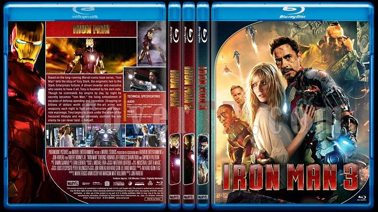 Iron Man Series - Custom Bluray Cover Set - English [2008 - 2010 - 2013]-ironmancollectionjpg