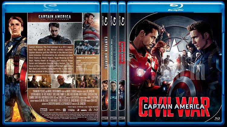 Captain America Series - Custom Bluray Cover Set - English [2011 - 2014 - 2016]-captainamericacollectionjpg