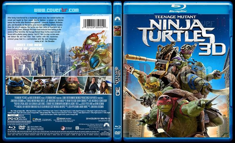 Teenage Mutant Ninja Turtles Collection 3D (Ninja Kaplumbağalar Koleksiyonu 3D) - Custom Bluray Cover Set - English [2014-2016]-1jpg