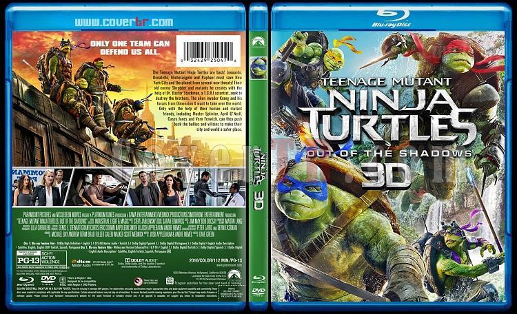 Teenage Mutant Ninja Turtles Collection 3D (Ninja Kaplumbağalar Koleksiyonu 3D) - Custom Bluray Cover Set - English [2014-2016]-2jpg