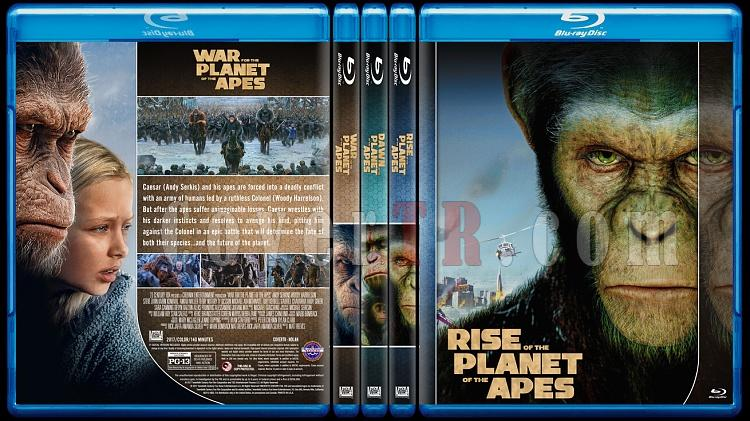 Planet of the Apes Collection - Custom Bluray Cover Set - English [2011-2017]-0jpg