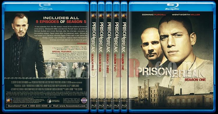 Prison Break (Seasons 1-5) - Custom Bluray Cover Set - English [2005-2017]-0jpg