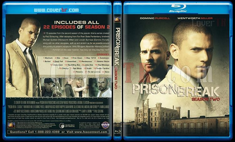 Prison Break (Seasons 1-5) - Custom Bluray Cover Set - English [2005-2017]-2jpg