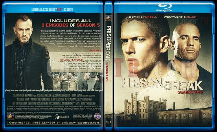 Prison Break (Seasons 1-5) - Custom Bluray Cover Set - English [2005-2017]-5jpg