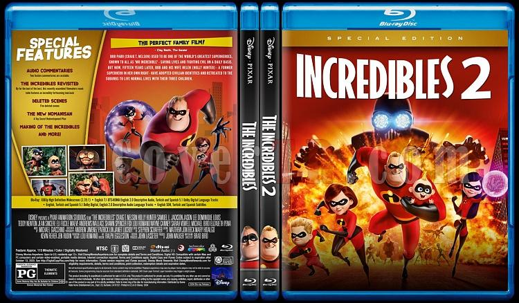 The Incredibles (İnanılmaz Aile) - Custom Bluray Cover - English [2004]-0jpg