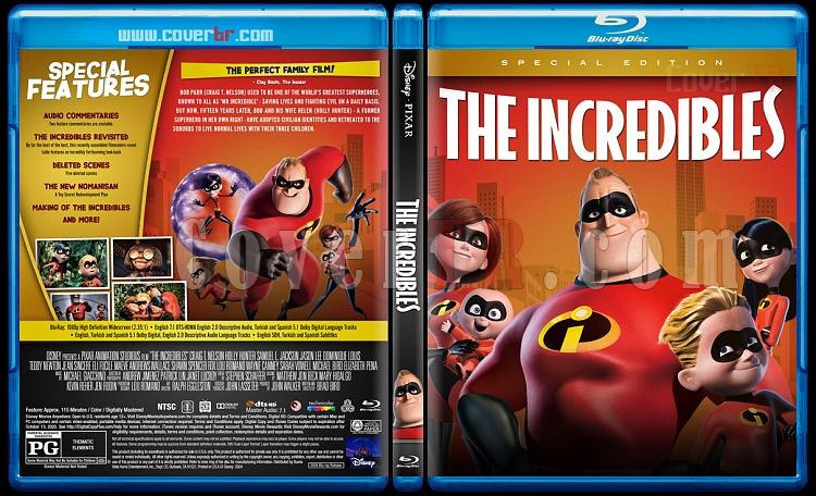 The Incredibles (İnanılmaz Aile) - Custom Bluray Cover - English [2004]-1jpg