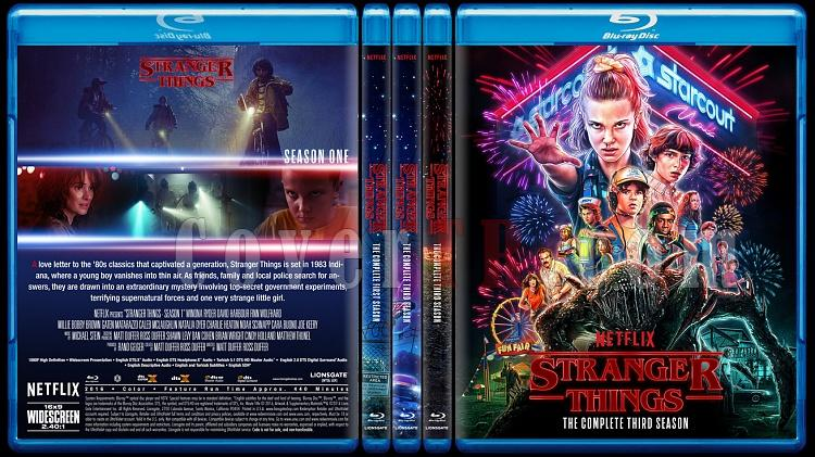 Stranger Things (Seasons 1-3) - Custom Bluray Cover Set - English [2016-2019]-0jpg
