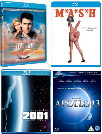 M*A*S*H* & apollo 13 & 2001: A Space Odyssey & Top Gun Blu-ray-adsizjpg