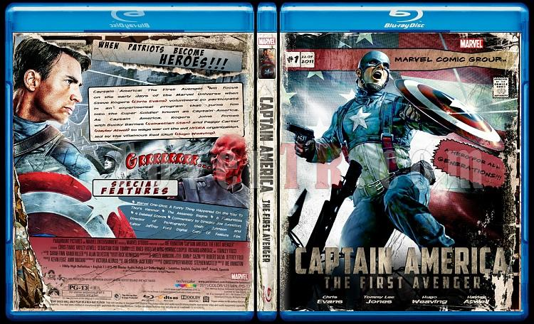 Captain America: The First Avenger (İlk Yenilmez: Kaptan Amerika) - Custom Bluray Cover - English [2011]-captainjpg