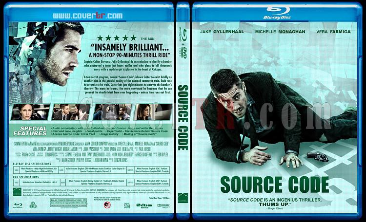 Source Code (Yaşam Şifresi) - Custom Bluray Cover - English [2011]-source-codejpg