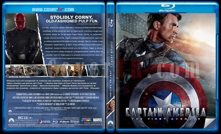 Captain America: The First Avenger (İlk Yenilmez: Kaptan Amerika) - Custom Bluray Cover - English [2011]-captain-america-brjpg