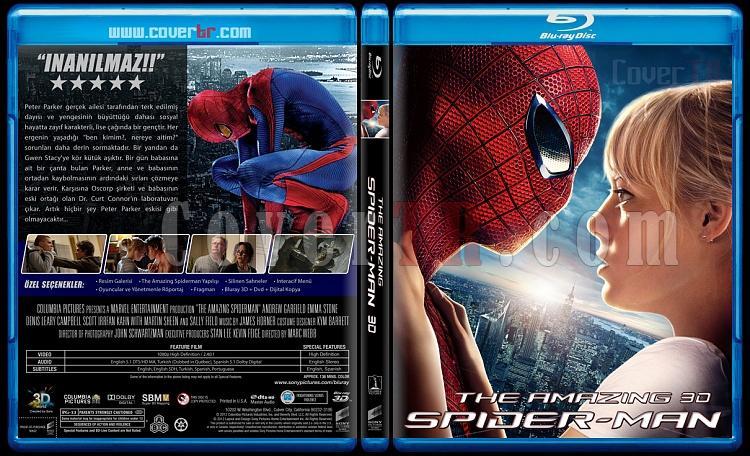 The Amazing Spiderman (İnanılmaz Örümcek Adam) - Custom Bluray Cover - Türkçe [2012]-3djpg