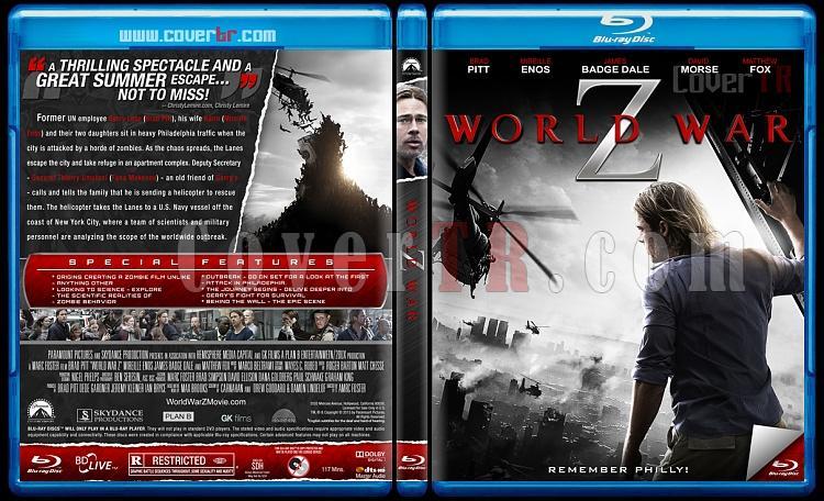 World War Z (Dünya Savaşı Z) - Custom Bluray Cover - English [2013]-wjpg