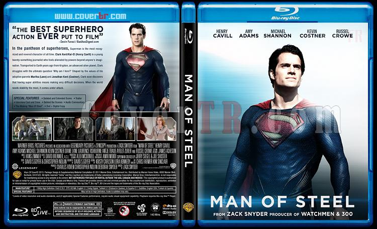Man of Steel (Çelik Adam) - Custom Bluray Cover - English [2013]-man-steel-engjpg