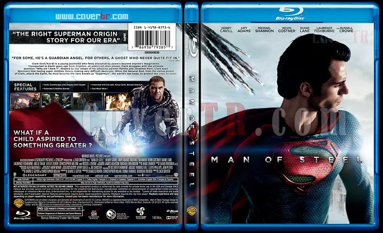 Man of Steel (Çelik Adam) - Custom Bluray Cover - English [2013]-manjpg