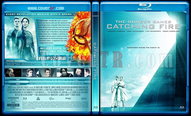 The Hunger Games: Catching Fire (Açlık Oyuncları: Ateşi Yakalamak) - Custom Bluray Cover - English [2013]-izlemejpg