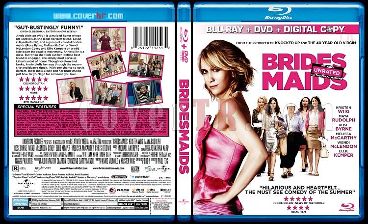 Bridesmaids (Nedimeler) - Custom Bluray Cover - English [2011]-bridesmaids-blu-rayprewjpg