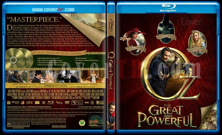 Oz the Great and Powerful  (Muhteşem ve Kudretli Oz) - Custom Bluray Cover - English [2013]-blu-ray-1-disc-flat-3173x1762-11mmjpg