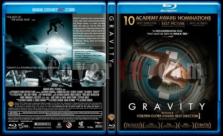 Gravity (Yerçekimi) - Custom Bluray Cover - English [2013]-gravityjpg
