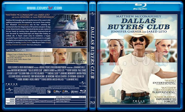 Dallas Buyers Club (Sınırsızlar Kulübü) - Custom Bluray Cover - English [2013]-dallasjpg