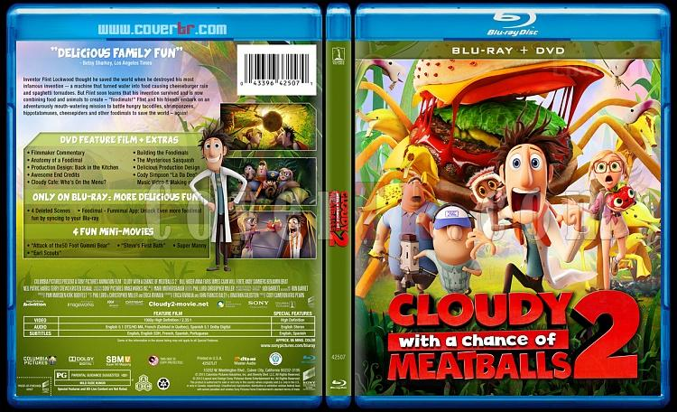 Cloudy with a Chance of Meatballs 2 - Custom Bluray Cover - English [2013]-v1jpg