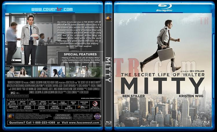 The Secret Life of Walter Mitty - Custom Bluray Cover - English [2013]-v2jpg