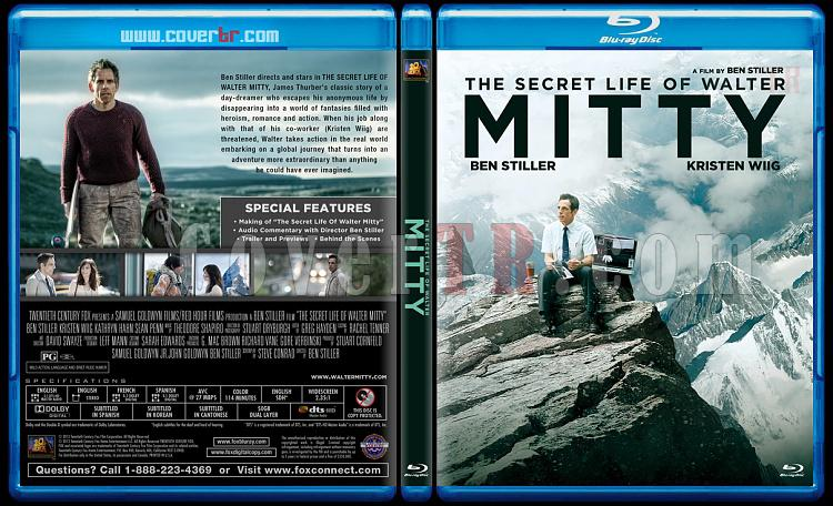 The Secret Life of Walter Mitty - Custom Bluray Cover - English [2013]-v1jpg