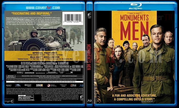 The Monuments Men (Hazine Avcıları) - Custom Bluray Cover - English [2014]-monuments-men-prevjpg