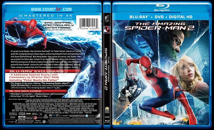 The Amazing Spiderman (İnanılmaz Örümcek Adam 2) - Custom Bluray Cover - English [2014]-amazing-spiderman-2-riddick-v1-previewjpg