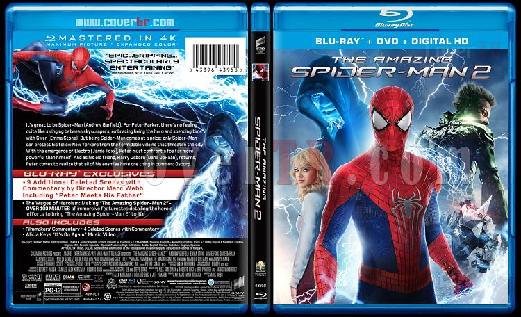 The Amazing Spiderman (İnanılmaz Örümcek Adam 2) - Custom Bluray Cover - English [2014]-amazing-spiderman-2-riddick-v2-previewjpg