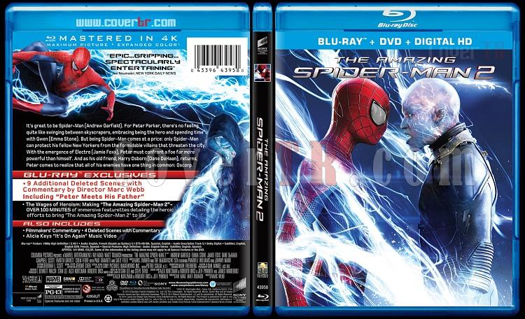 The Amazing Spiderman (İnanılmaz Örümcek Adam 2) - Custom Bluray Cover - English [2014]-amazing-spiderman-2-riddick-v3-previewjpg