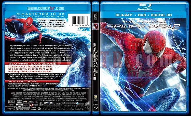 The Amazing Spiderman (İnanılmaz Örümcek Adam 2) - Custom Bluray Cover - English [2014]-amazing-spiderman-2-riddick-v4-previewjpg