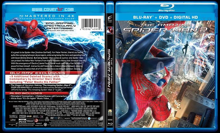 The Amazing Spiderman (İnanılmaz Örümcek Adam 2) - Custom Bluray Cover - English [2014]-amazing-spiderman-2-riddick-v5-previewjpg